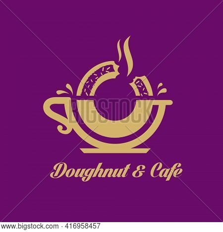 Donut Cafe Donut And Cafe Logo For Food Or Cafe Business And Any Other Possible Purpose.