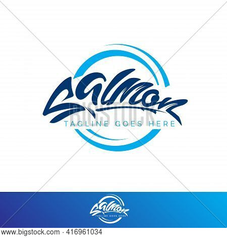 Salmon Wordmark Vector Symbol For Brand, Print Or Any Other Purpose