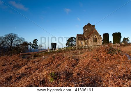 Hilltop Church At Dawn