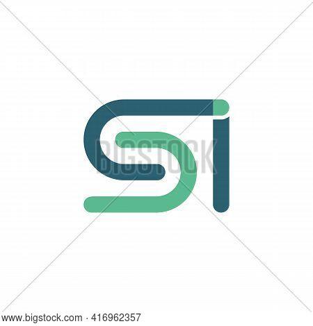 Illustration Vector Design Graphic Of Logo Letter Si Flat