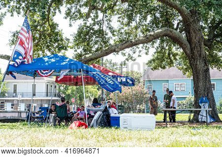 New Orleans, La - July 6: Trump Supporters Picnic On Bayou St. John During Essence Festival Weekend