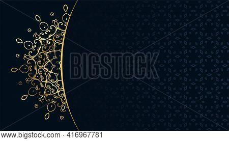 Golden Arabeqsue Mandala Pattern Arabis Style Backgroud