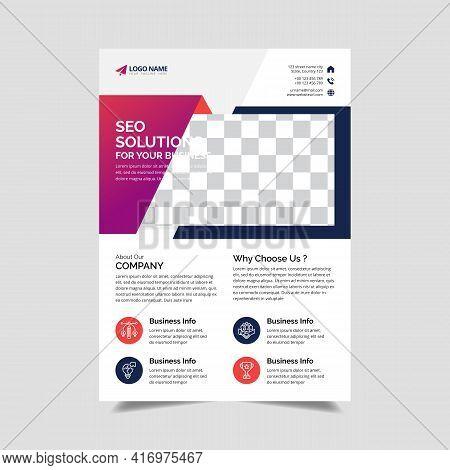 Corporate Flyer Design Template, Creative Business Trendy Flyer Brochure Template Design, Vector Tem