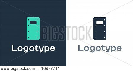 Logotype Military Assault Shield Icon Isolated On White Background. Logo Design Template Element. Ve