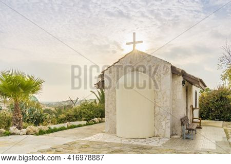 December 2020. Kellia, Larnaca District, Cyprus. Ayios Bantos Church In Kellia Cyprus