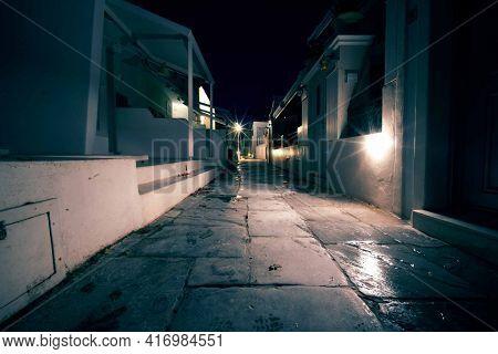 Night street middle eastern village