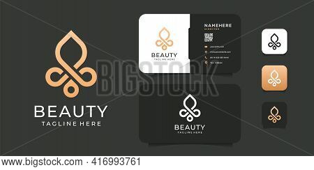 Beauty Fashion Spa Brand Identity Logo Vector Template. Logo Can Be Used For Icon, Brand, Identity,