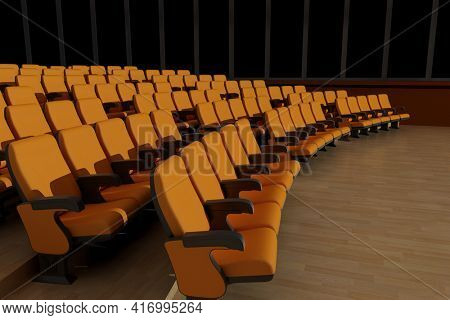 Empty hall for public performances.,3d render