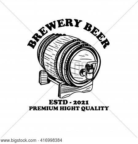 Brewery Beer Design Logo Vector. Illustration Brewery Design Vector