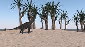 brachiosaurus on send terrain poster
