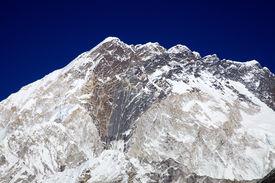 Nuptse Mountain Massif In Everest Region, Nepal