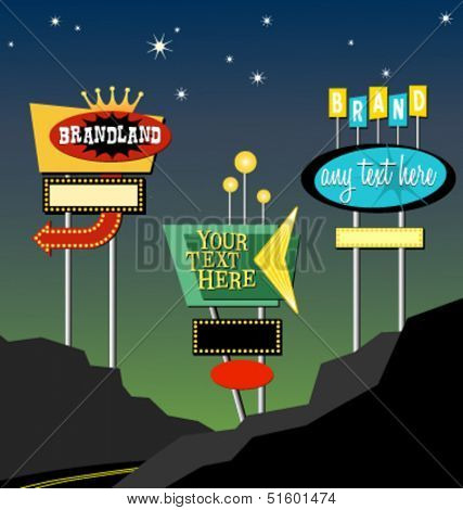 vintage retro marquis lighted signs