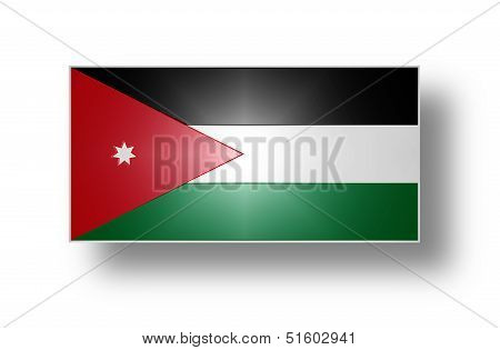Civil and state flag and ensign of the Hashemite Kingdom of Jordan (stylized I). poster