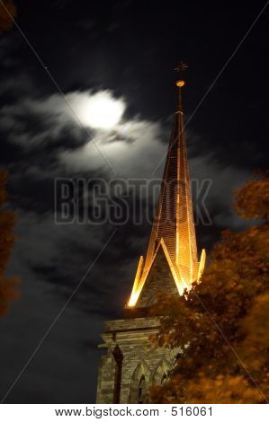 Cathedral And Moon