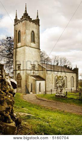 Saint Patrick Church On Historic Tara Hill In Ireland