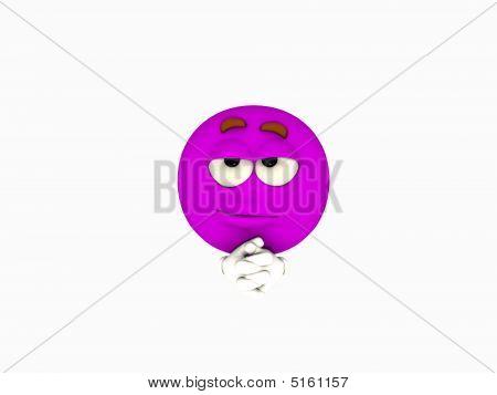 Purple Emoticon