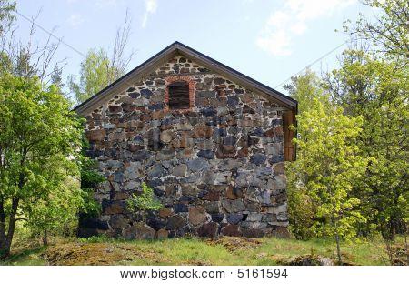Old Storehouse In Kisko, Finland