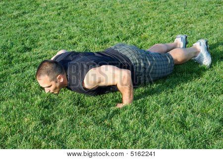 Push Ups On Grass