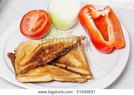 Sandwiches With Vegetables.