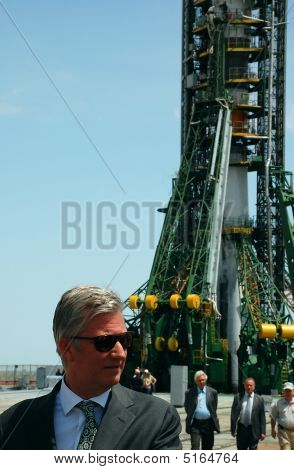 Crown Prince Of Belgium Philippe At The Launch Pad