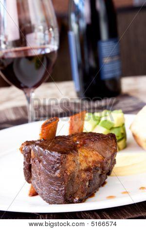 Braised Cumbrae's Short Rib Served With Wine