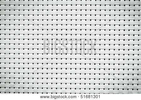 Fine Craft Texture That Made From Plastic - black and white poster