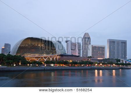 Esplanade (singapore Opera And Concert Hall At Dusk