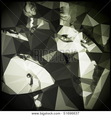 Low Polygonal Paper Faces
