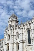 The famous Jeronimos Monastery at Lisbon, Portugal poster