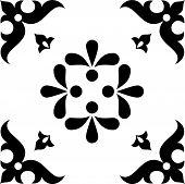 Design vector ornament black elements on white background poster