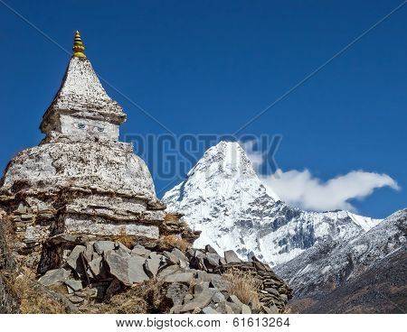 Himalaya Mountains In Nepal.