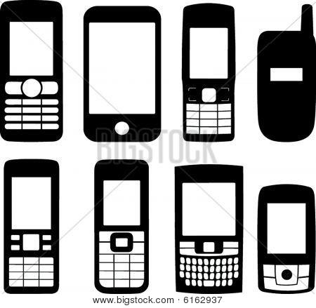 Mobiltelefone Silhouetten