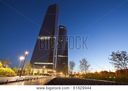 Las Cuatro Torres Financial Center Are The Highest Skyscrapers In Spain With
