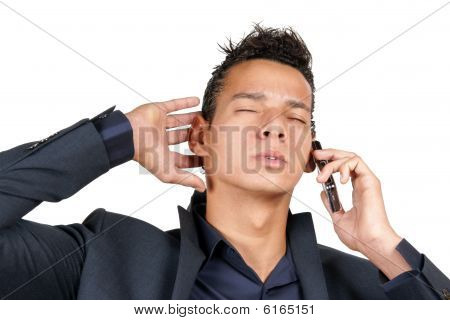 Young Business Man With Mobile