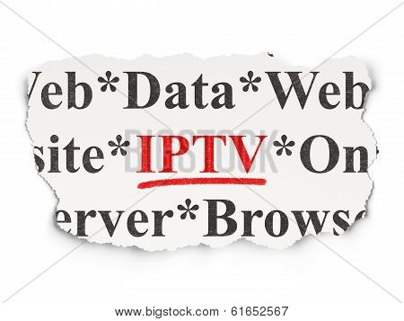 Web development concept: IPTV on Paper background