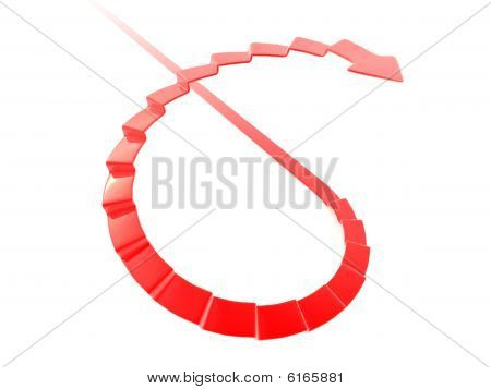 Stair-shaped arrow