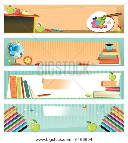Back to school - set of banners