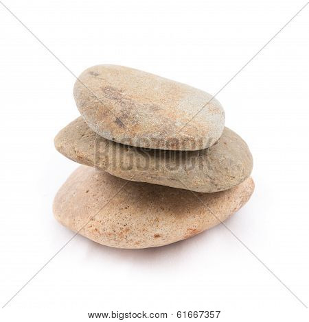 Isolated Of The Balance Stones Is Zen For Spa On White Background