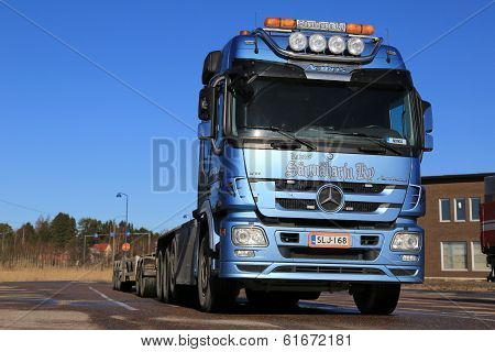 Mercedes-benz Actros Truck On A Yard