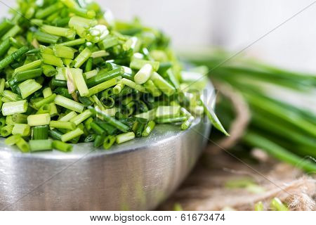 Bowl With Cutted Chive