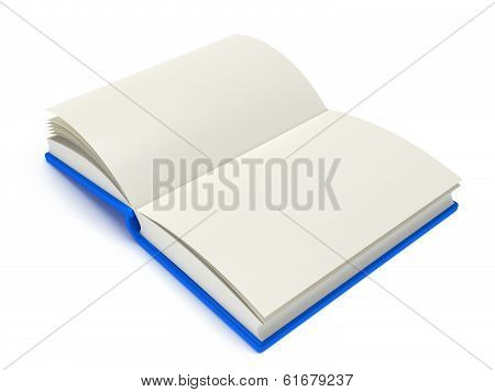 Open Book on white