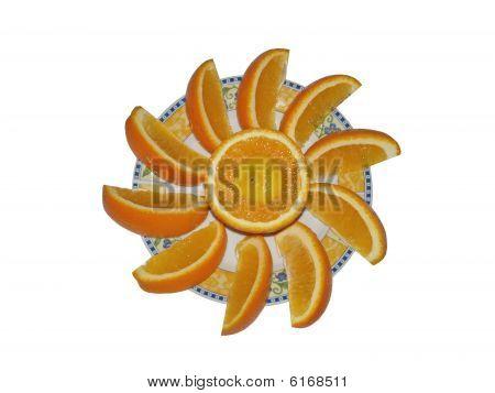 segments of the orange