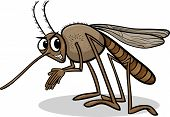 Cartoon Illustration of Funny Mosquito Insect Character poster