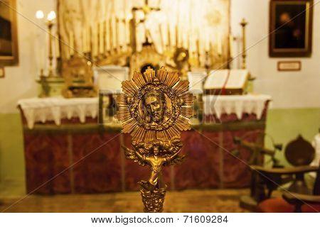 Mission San Luis Obispo De Tolosa Bronze Christ Medal, California