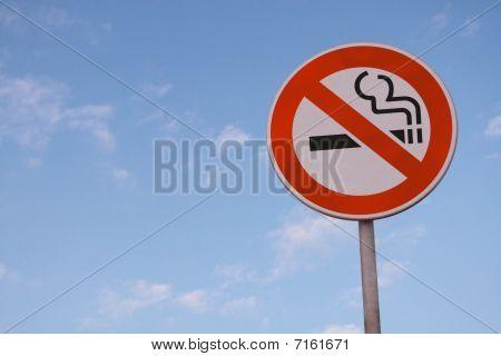 No Smoking Road Sign