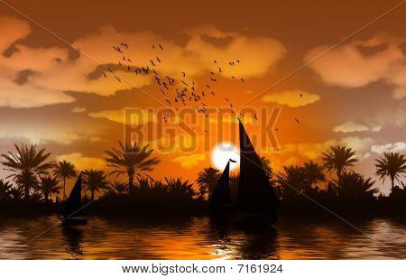 Nile river bank