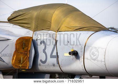 Airplane Jas-39 Gripen At Airshow
