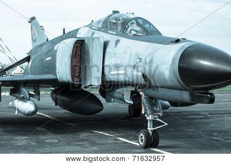 Airplane F-4 Phantom At Airshow