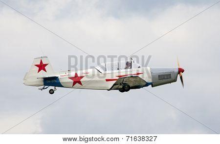Historical soviet airplane