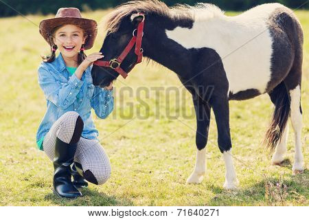 Horse - Lovely girl with pony